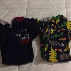 Bundle of 2 boys footie pjs